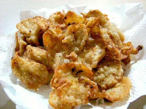 Deep Fried Oyster Mushrooms