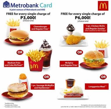 McDonalds Metrobank Promo 2014