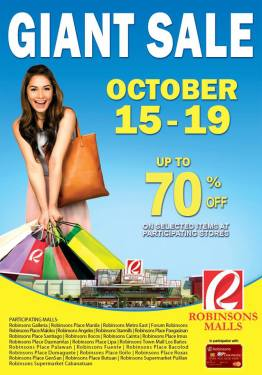 Robinsons 5 Day Sale Oct 15-19