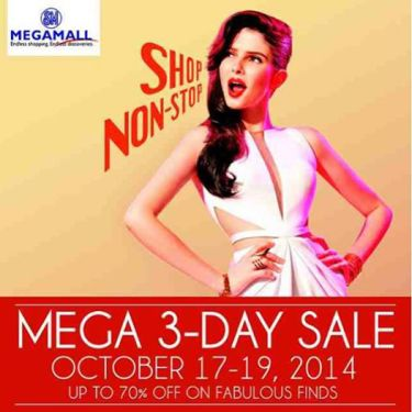 SM Megamall 3 Day Sale Oct 2014