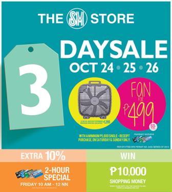 SM North Edsa 3 Day Sale Oct 2014 Fan