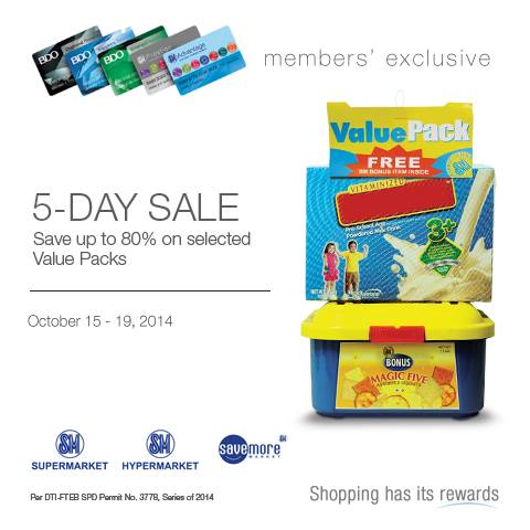 SM Supermarket Value Pack 5 Day Sale Oct 15 19