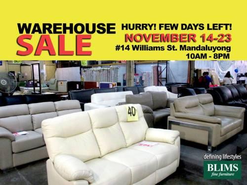 Blims Furniture Warehouse Sale Nov 2014
