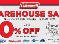 Coleman Warehouse Sale Nov 29 2014