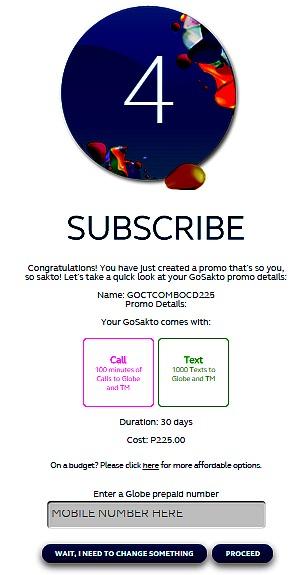 Globe GoSakto How To Register Step 4