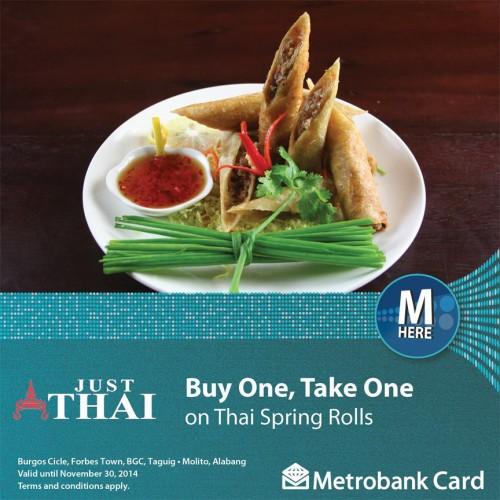 Metrobank Just Thai Buy 1 Take 1 Spring Rolls