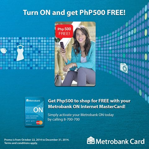 Metrobank ON Internet Mastercard 500 free