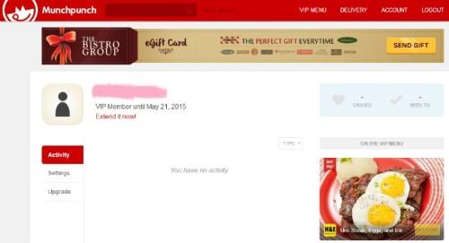 Munchpunch Sbarro Stromboli Free VIP Membership