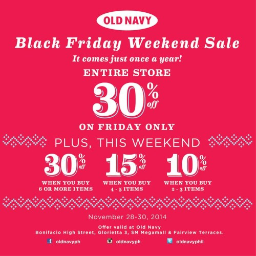 Old Navy Black Friday Sale 30 OFF Entire Store