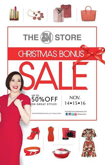 SM Store Christmas Bonus Sale Nov 14 15 16 2014