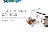 SM Thanksgiving Sale Nov 27 2014