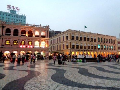 Senado Square Macau at Dusk