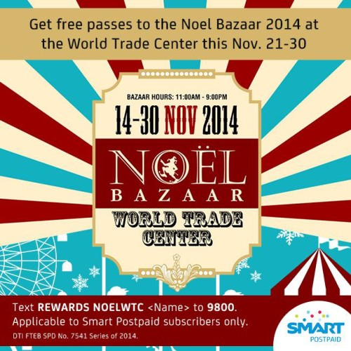 Smart NOEL Bazaar FREE Pass Nov 2014