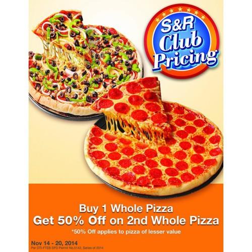 SnR Pizza 50 OFF Nov 2014
