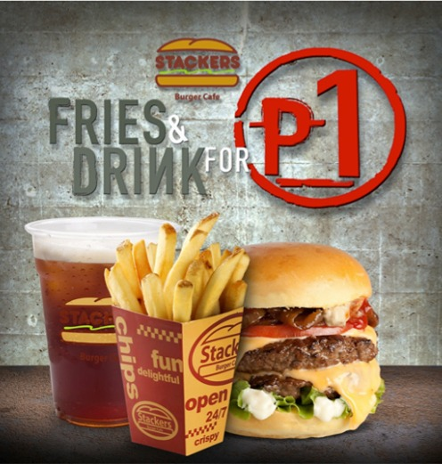 Stackers Burger Piso Promo