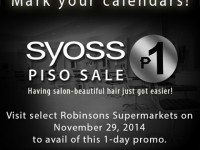 Syoss P1 sale Robinsons Supermarket Nov 29 2014