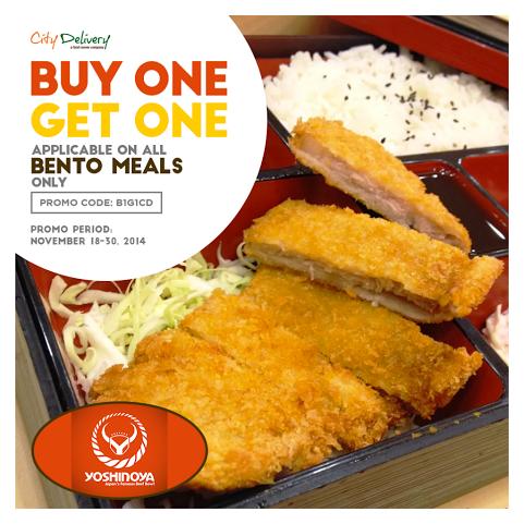 Yoshinoya Buy 1 Get 1 City Delivery Nov 2014