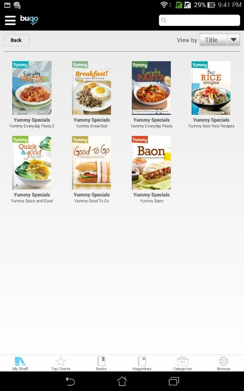 Buqo Magazines Sale App Shelf Yummy Specials