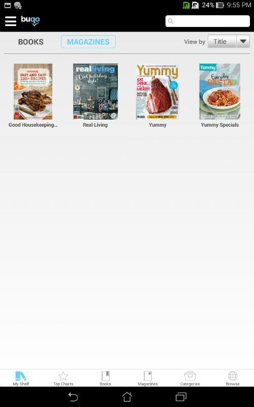 Buqo Magazines Sale App Shelf