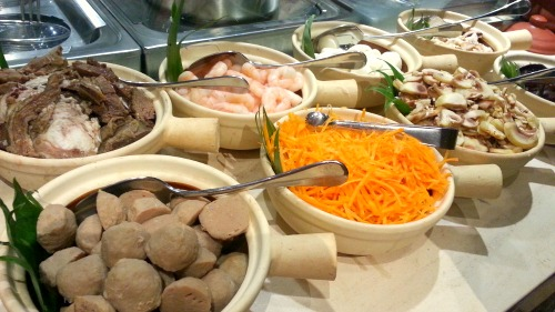 City of Dreams Cafe at Hyatt Midnight Buffet Noodle Toppings