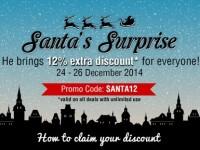Ensogo 12 OFF Santas Surprise Dec 24 26 2014 Featured