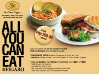 Figaro All You Can Eat Only P299! Shangri-la Branch. Mon-Fri, 6pm to 9pm