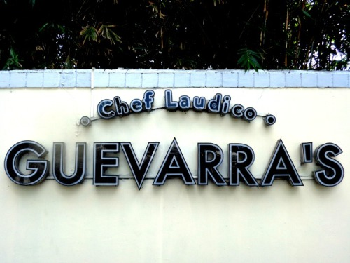 Guevarra's Chef Laudico Restaurant Sign Lunch Buffet Review