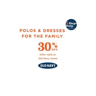 Old Navy 30 OFF Polos Dresses Dec 5 6 7 2014