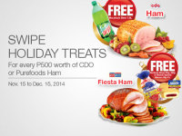 SM Holiday Treats 2014 CDO Purefoods Ham Freebies