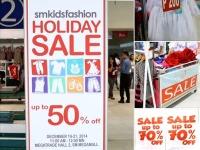 SM Kids Fashion Holiday Sale 50 OFF Megatrade Hall Megamall Dec 19 21 2014