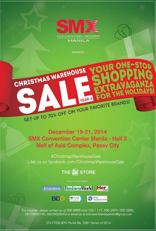 SMX Christmas Warehouse Sale 2014