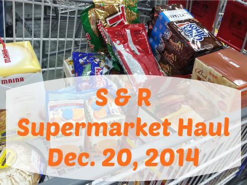 SnR Supermarket Haul Dec 20 2014 Cart