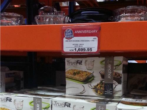 SnR Supermarket Haul Dec 20 2014 Anchor Hocking 11pc Truefit Oven Basic Set