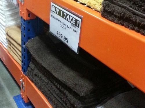 SnR Supermarket Haul Dec 20 2014 Bath Mat Buy 1 Take 1