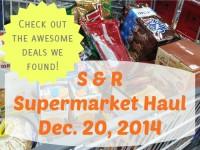 SnR Supermarket Haul Dec 20 2014 Cart 2