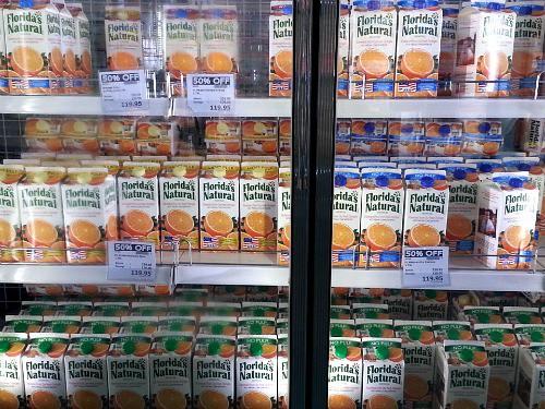 SnR Supermarket Haul Dec 20 2014 Floridas Natural Orange Juice 50% OFF