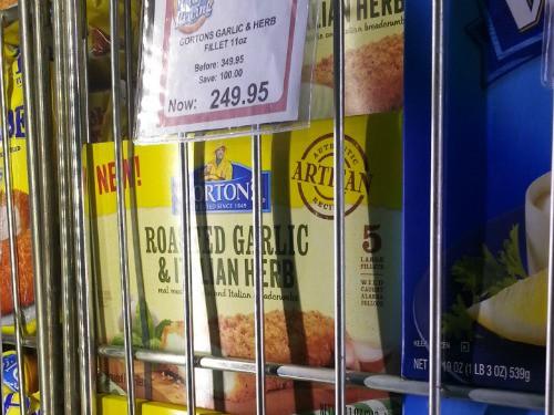 SnR Supermarket Haul Dec 20 2014 Gorton Garlic Herb Fillet