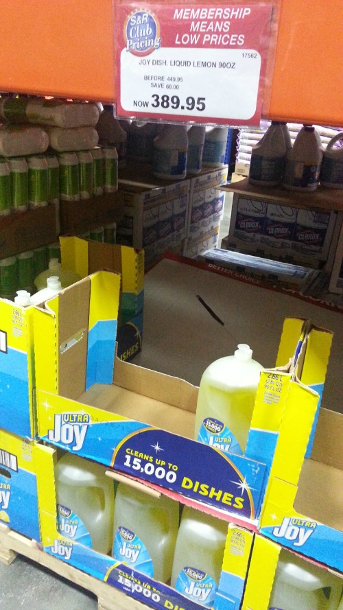 SnR Supermarket Haul Dec 20 2014 Joy Dishwashing Liquid 90oz