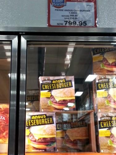 SnR Supermarket Haul Dec 20 2014 Steak-eze Chophouse  Angus Cheeseburger