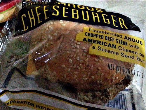 SnR Supermarket Haul Dec 20 2014 Steak-eze Chophouse  Angus Cheeseburger Before Microwave