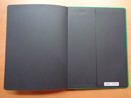 Starbucks 2015 Planner Unboxing Review Inside Back Cover with Pocket