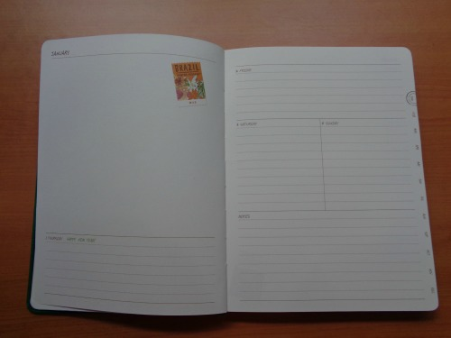 Starbucks 2015 Planner Unboxing Review January Weekly Calendar Page