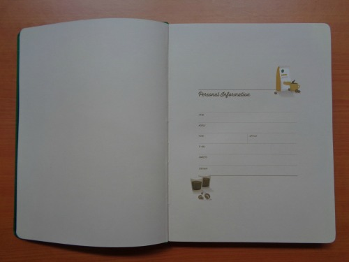 Starbucks 2015 Planner Unboxing Review Personal Information Page
