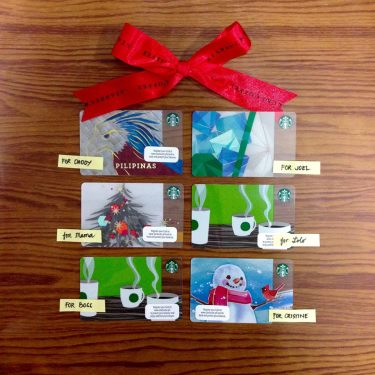Starbucks Cards Collection worth P1800 for only P1500 Promo 6 Designs loaded with P300 each
