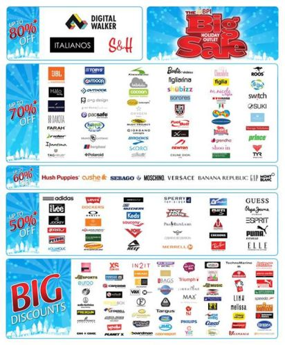 The Big Holiday Outlet Sale More Details