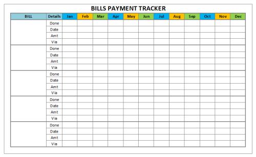 Bills Payment Tracker