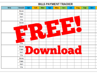 Bills Payment Tracker Free Download