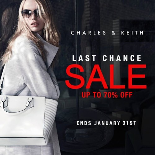 Charles and Keith Last Chance Sale Jan 31 2015