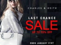 Charles and Keith Last Chance Sale Jan 31, 2015