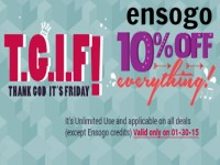 Ensogo TGIF 10% OFF Jan 30 2015